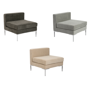 Vittorio Armless Sofas - V-Decor Trade Show Furniture Rentals in Las Vegas