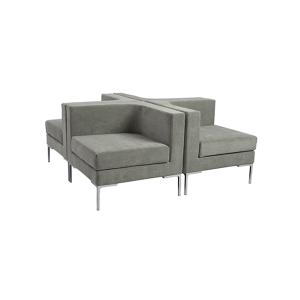 Vittorio Modular Sofa - Light Gray - Configuration Example