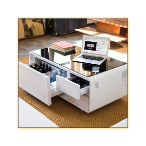Volt Sobro Table - White - Open Drawers