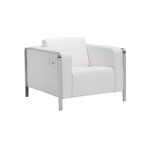 Volt USB Arm Chair - White