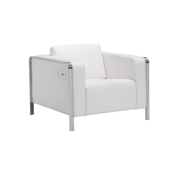 Volt USB Arm Chair - White