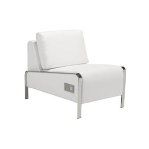 Volt USB Armless Chair - White
