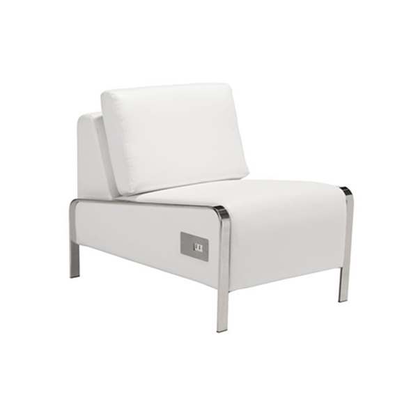 Volt USB Armless Chair - White