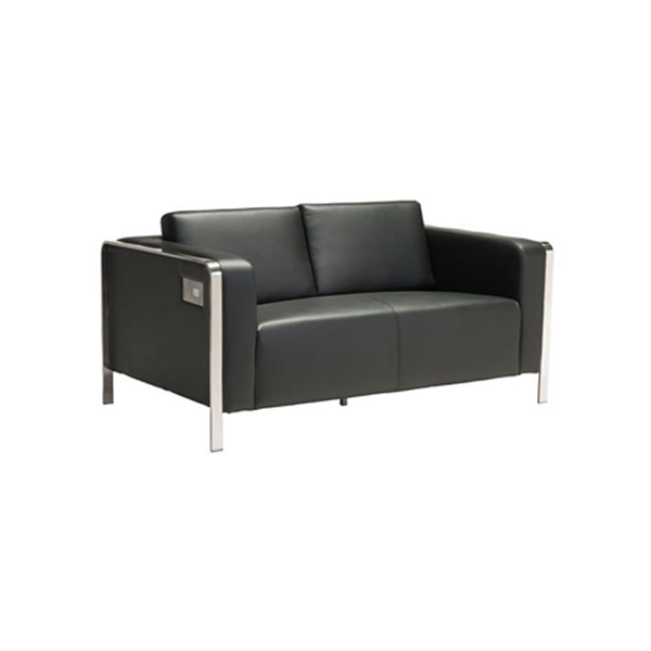 Volt USB Loveseat - Black