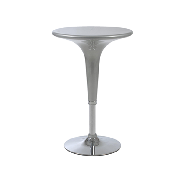 Clyde Adjustable Bar Table - Silver