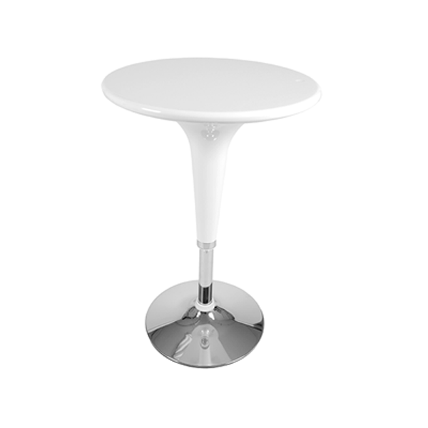 Clyde Adjustable Bar Table - White