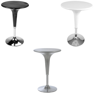 Clyde Adjustable Bar Tables - V-Decor Trade Show Furniture Rentals in Las Vegas