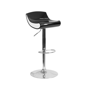 Contour Bar Stool - Black