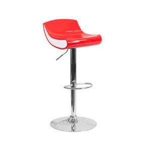 Contour Bar Stool - Red