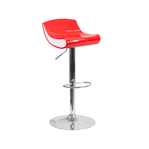 Contour Bar Stool - Red