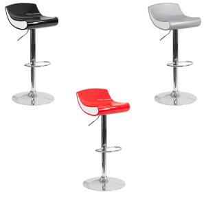 Contour Bar Stools - V-Decor Trade Show Furniture Rentals