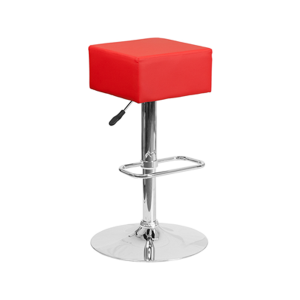 Cube Bar Stools - Red