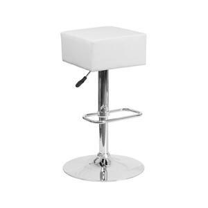 Cube Bar Stools - White