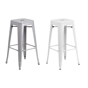 Eli Backless Bar Stools - V-Decor Trade Show Furniture Rentals