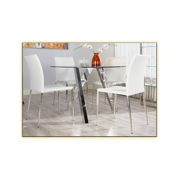 Fridrika Cafe Table with Diana Chairs