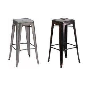 Retro Backless Bar Stool - V-Decor Trade Show Furniture Rentals