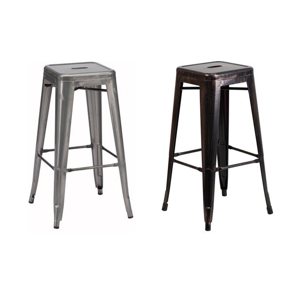 Retro Backless Bar Stool - V-Decor Trade Show Furniture Rentals