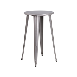 Retro Round Bar Table - Silver