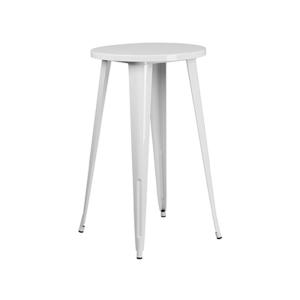 Retro Round Bar Table - White