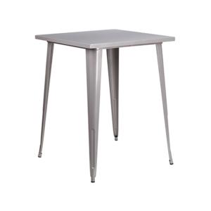 Retro Square Bar Table - Silver
