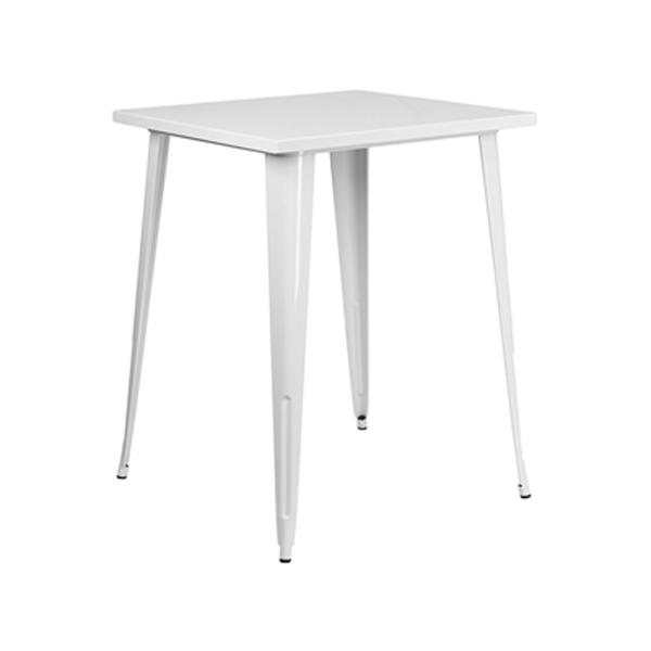 Retro Square Bar Table - White