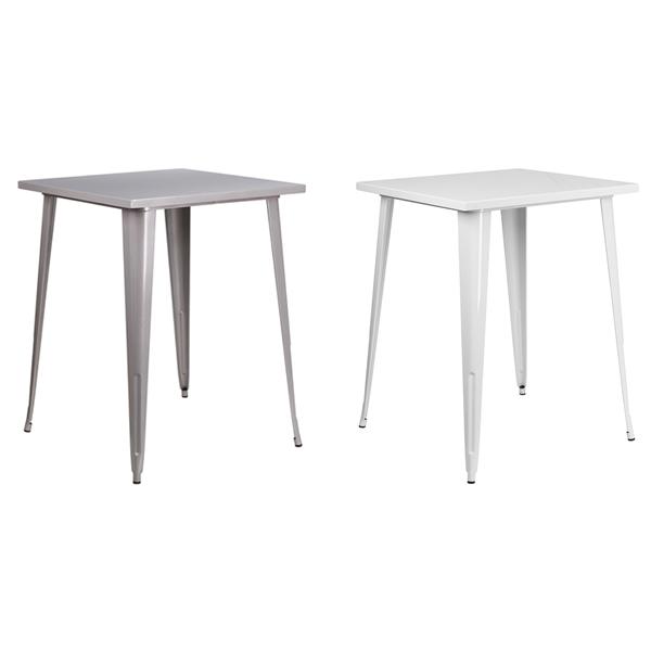 Retro Square Bar Tables - V-Decor Trade Show Furniture Rentals in Las Vegas