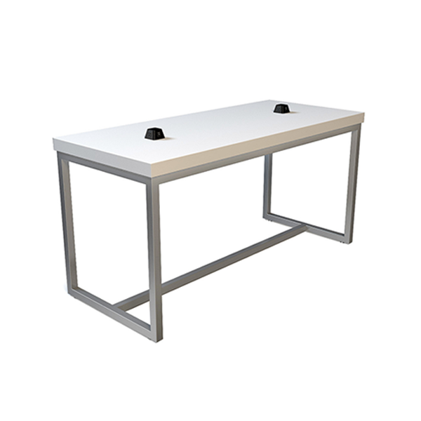 Volt Pyramid USB Bar Table - White-Silver