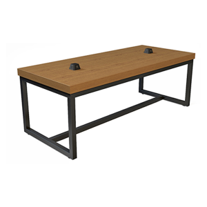 Volt Pyramid USB Cafe Table - Cherry-Black