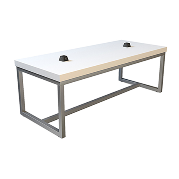 Volt Pyramid USB Cafe Table - White-Silver
