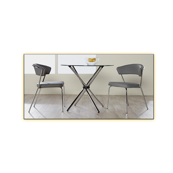 hydra 36in cafe table with draco chairs