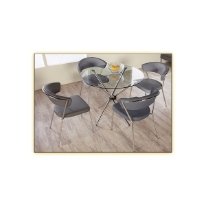 hydra 42in cafe table with draco chairs