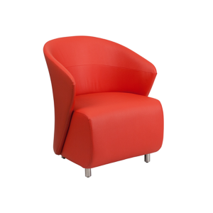 Barrel Lounge Chair - Red