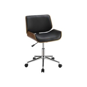 Branson Office Chair - Black and Walnut