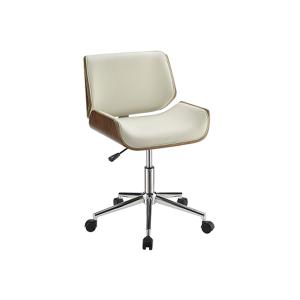 Branson Office Chair - Ecru and Walnut
