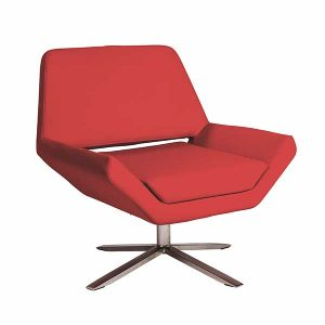 Carlotta Lounge Chair - Red - V-Decor Event Furnishings - Lounge Seating Rentals for Trade Shows or Corporate Events in Las Vegas
