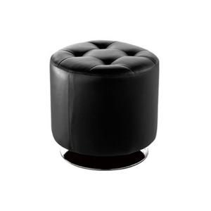 Domani Small Swivel Ottoman - Black