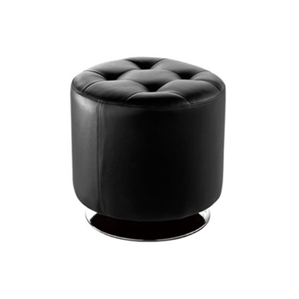 Domani Small Swivel Ottoman - Black