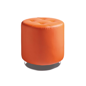 Domani Small Swivel Ottoman - Orange