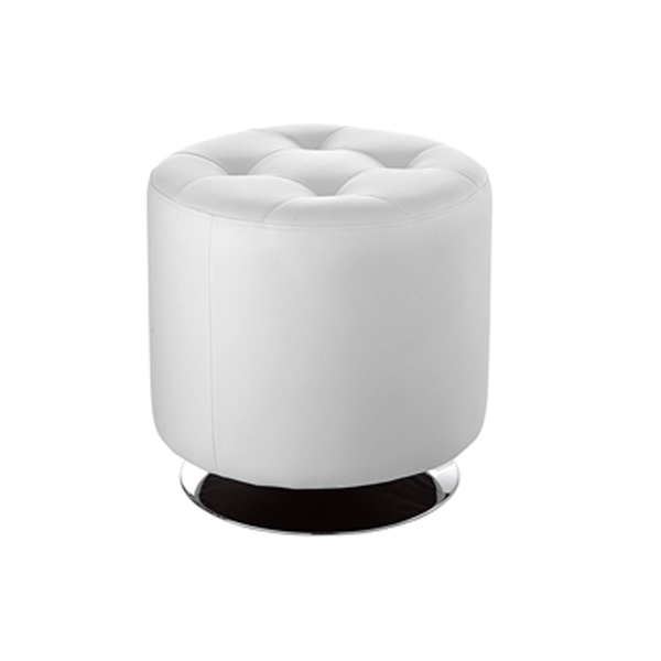Domani Small Swivel Ottoman - White