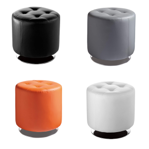 Domani Small Swivel Ottomans - V-Decor Trade Show Furniture Rentals in Las Vegas