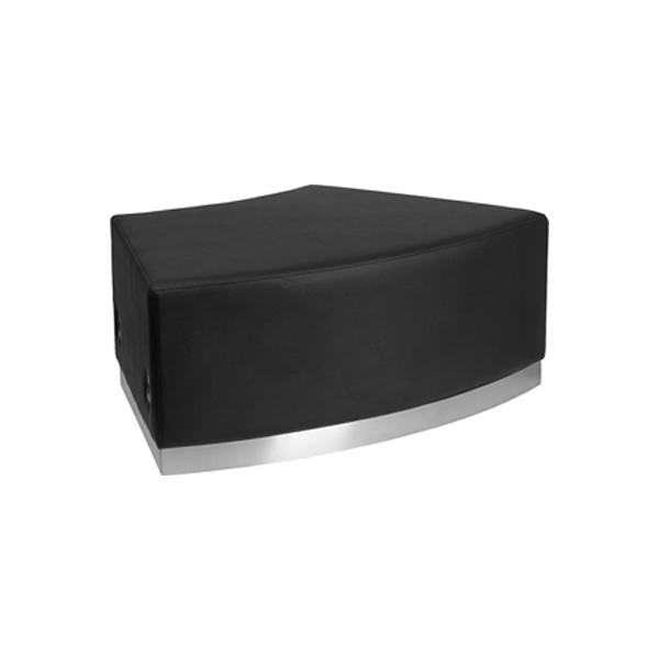 Melrose Backless Convex Bench - Black