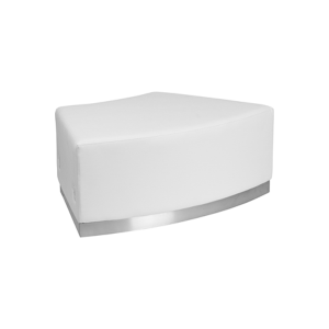 Melrose Backless Convex Bench - White