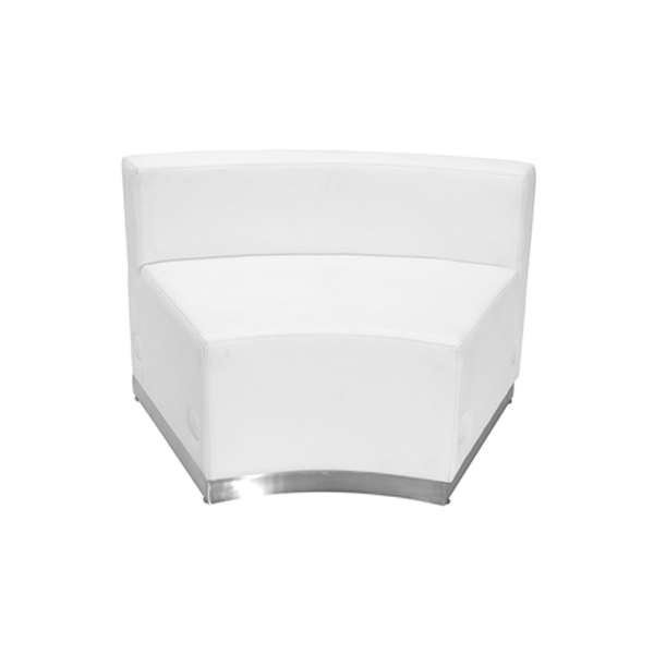 Melrose Concave Lounge Chair - White