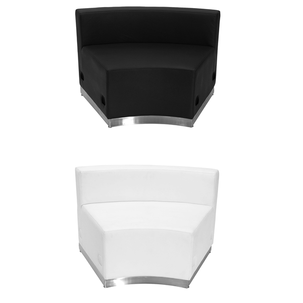 Melrose Concave Lounge Chairs - V-Decor Trade Show Furniture Rentals in Las Vegas