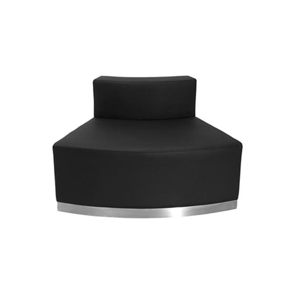 Melrose Convex Lounge Chair - Black