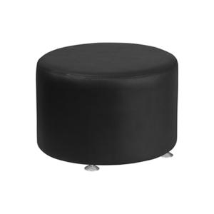 Melrose Large Round Ottoman - Black