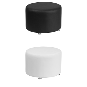 Melrose Large Round Ottomans - V-Decor Trade Show Furniture Rentals in Las Vegas
