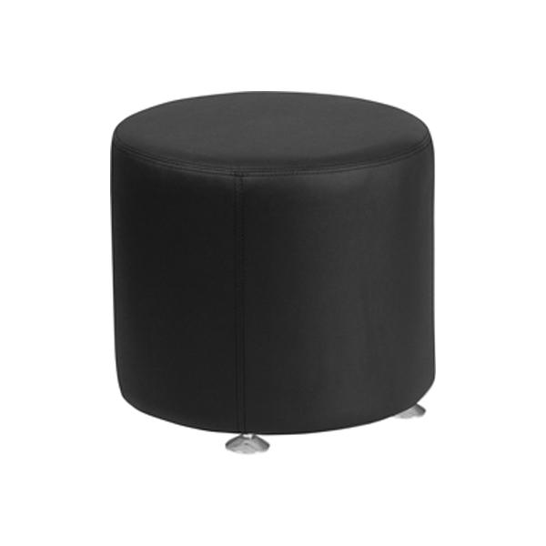Melrose Small Round Ottoman - Black