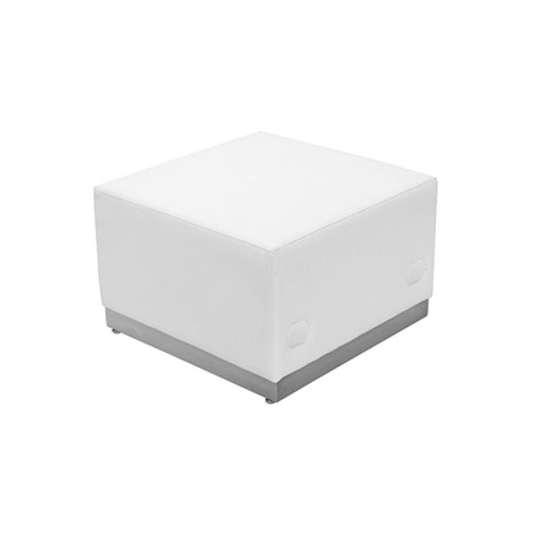 Melrose Square Ottoman - White