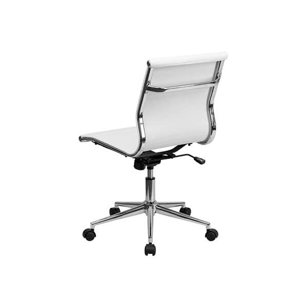 Motto Armless Office Chair - White - Back